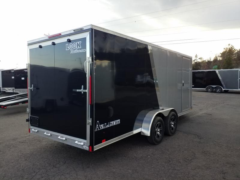 2020 Look Trailers LASQ 7X23 ALUMINUM Snowmobile Trailer