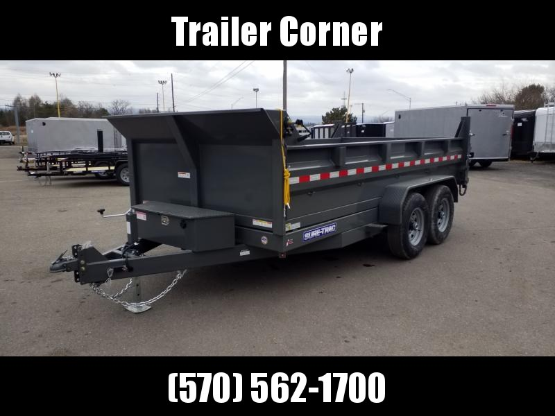 2020 Sure-Trac 7X14 14K RAMPS-TARP SCISSOR  Dump Trailer