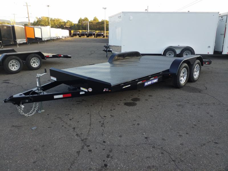 2019 Sure-Trac 7X18 7K STEEL DECK Car / Racing Trailer