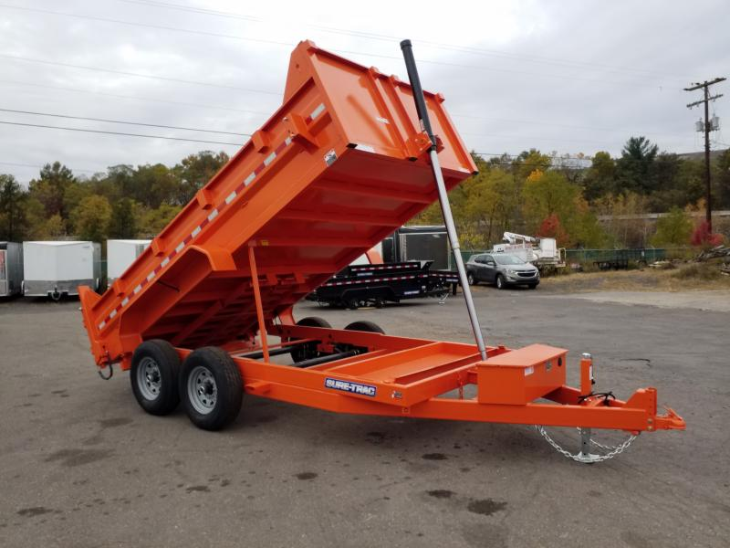 2020 Sure-Trac 7X14 14K TELESCOPIC - RAMPS Dump Trailer