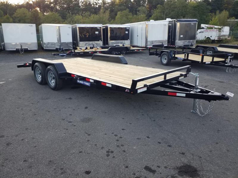 2020 Sure-Trac 7X18 7K WOOD DECK Car / Racing Trailer