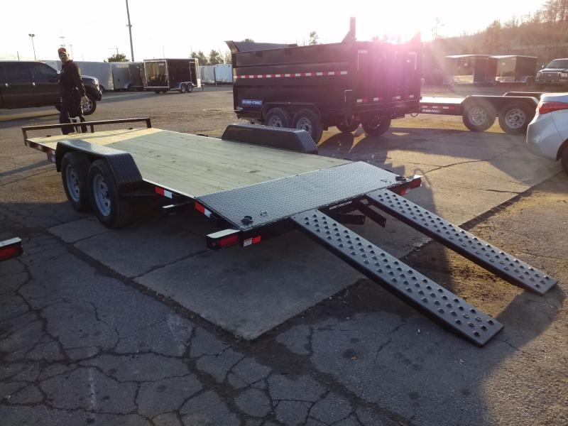 2020 Sure-Trac 7X18 7K WOOD DECK Car / Racing Trailer