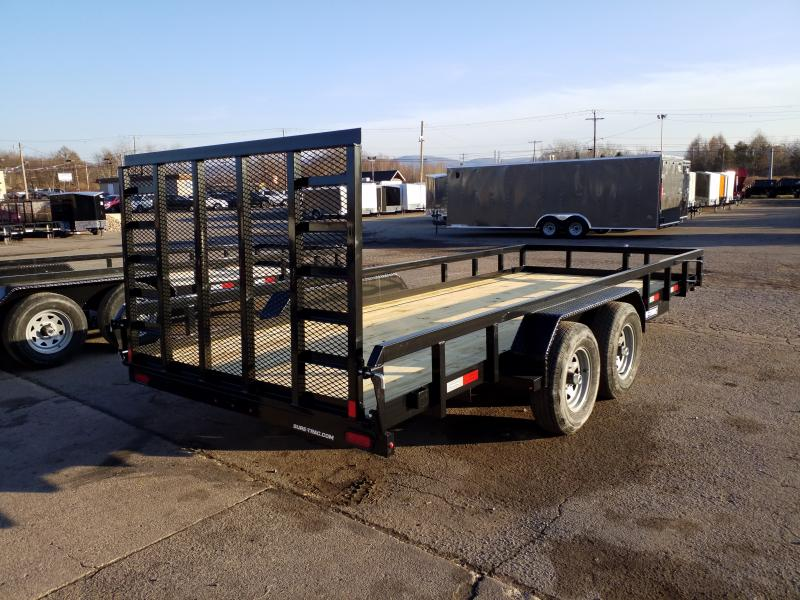 2020 Sure-Trac 7X18 10K TUBE TOP Utility Trailer