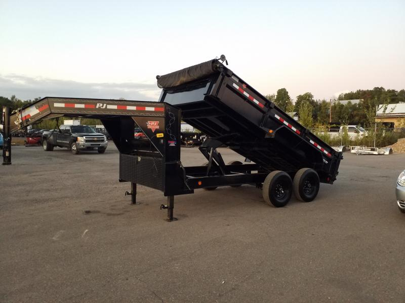 2016 PJ Trailers USED 7X14 LOW PRO 14K GVWR Dump Trailer