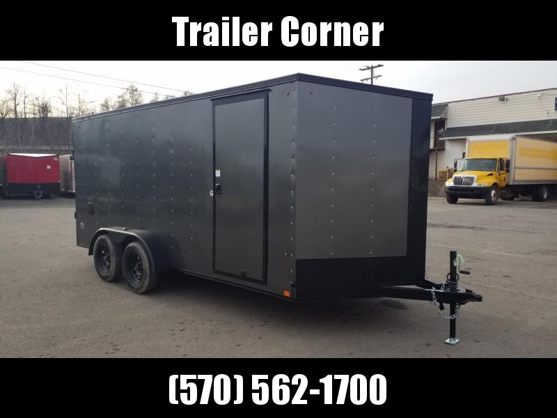 2021 Look Trailers STLC 7X16 EXTRA HEIGHT - BLACKED OUT Enclosed Cargo Trailer