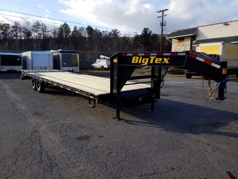 2020 Big Tex Trailers 14GN-255 MEGA RAMPS Flatbed Trailer