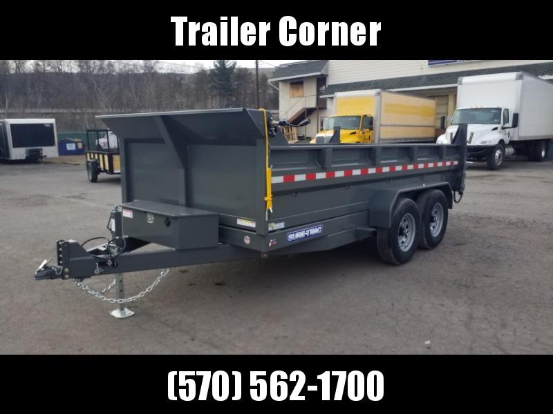 2020 Sure-Trac 7X14 14K DUAL RAM - RAMPS-TARP Dump Trailer