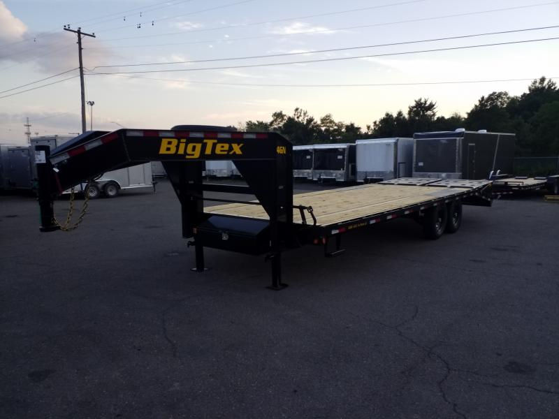 2020 Big Tex Trailers 14GN-20-5 MEGA RAMPS Flatbed Trailer