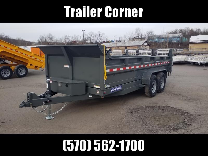2020 Sure-Trac 7X16 14K SCISSOR - RAMPS - TARP Dump Trailer