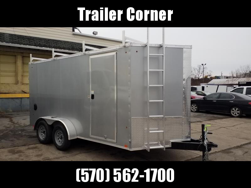 2021 Look Trailers EWLC 7X14 RACKS- WALK ON ROOF Enclosed Cargo Trailer