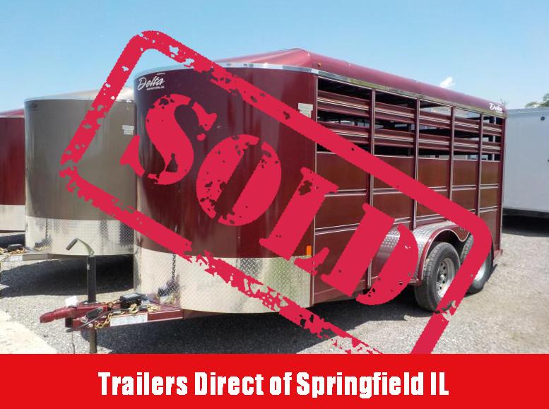 2018 Delta Manufacturing 16x6 500 ES Livestock Trailer