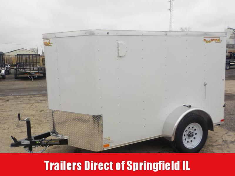 2019 Doolittle Trailer Mfg CARGO 5X8 WHITE S/A Enclosed Cargo Trailer