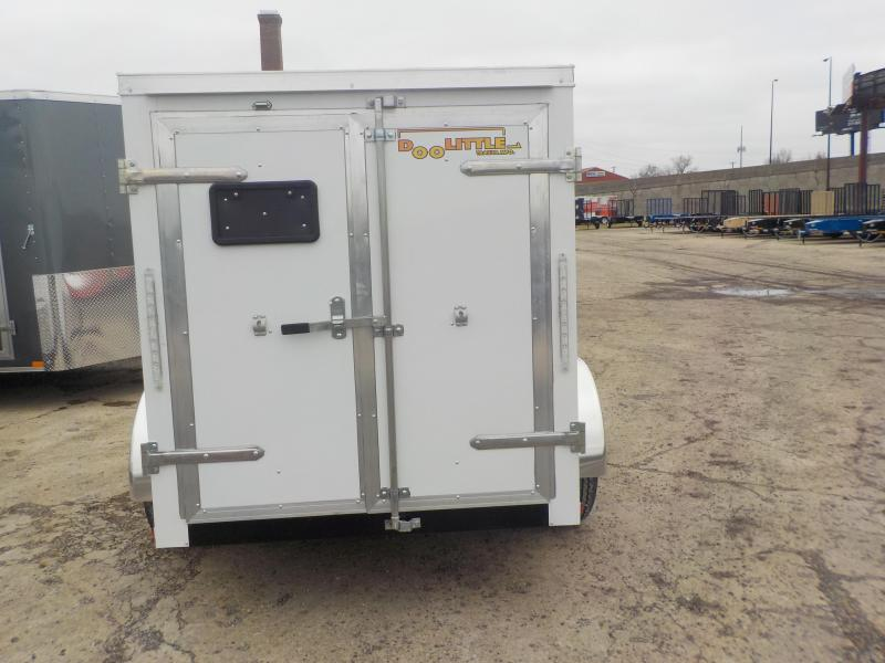 2019 Doolittle Trailer Mfg CARGO 5X8 WHITE S/A Enclosed Cargo Trailer
