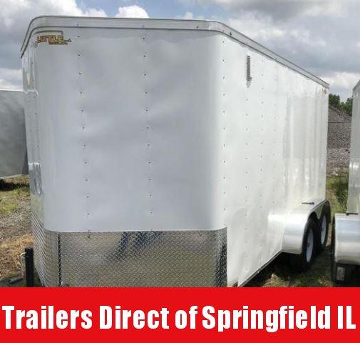 2019 Doolittle Trailer Mfg 7x14 White T/A Ramp Door Enclosed Cargo Trailer