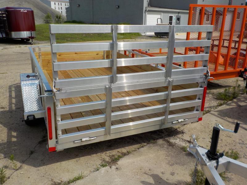 2018 MVM7 6.5x12 Aluminum Utility Trailer