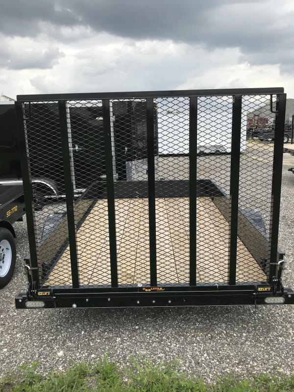 2019 Doolittle Trailer Mfg 77x10 S/A SS Series Black Utility Trailer