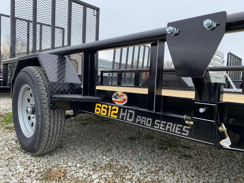 2020 Doolittle Trailer Mfg 66 X 12 PIPE RAIL Utility Trailer