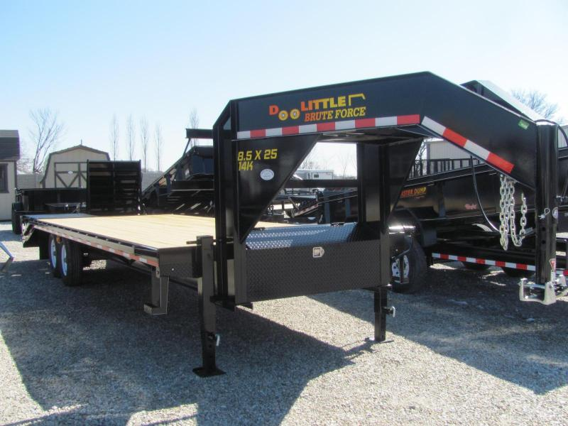 "New 2019 Doolittle 102"" x 20+5 Dove Brute Force Deckover 14K Trailer"