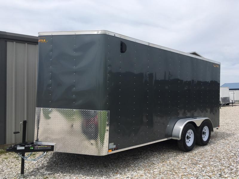 New 2019 Doolittle 7 x 16 Rear Ramp Door Enclosed Cargo Trailer
