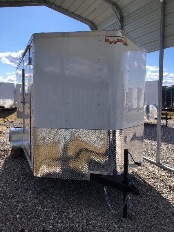 2019 DooLittle 7 x 12  REAR RAMP DOOR Enclosed Cargo Trailer