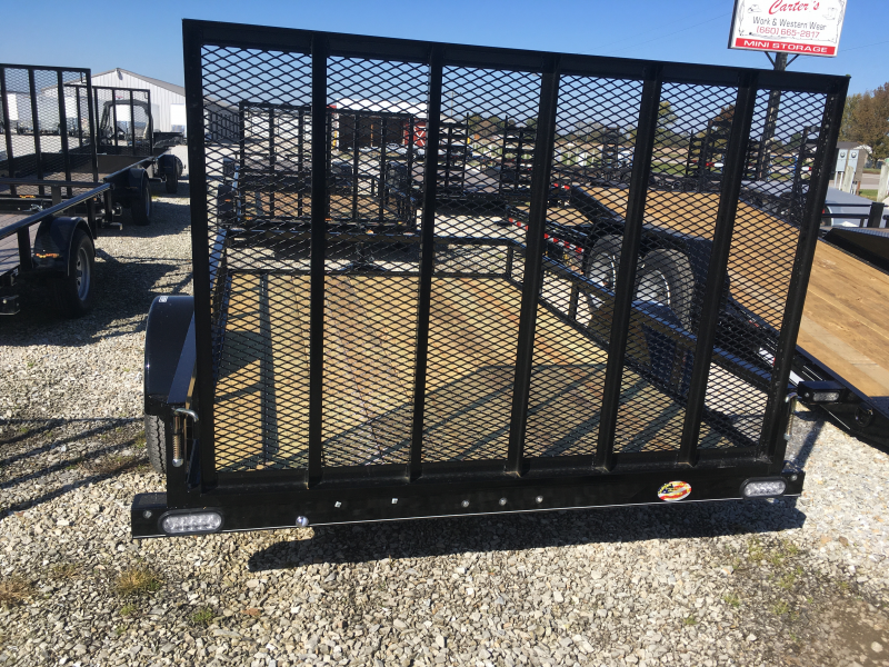 2020 Doolittle Trailer Mfg 77 x 10 Rally Sport Angle Iron Top Rail Utility Trailer