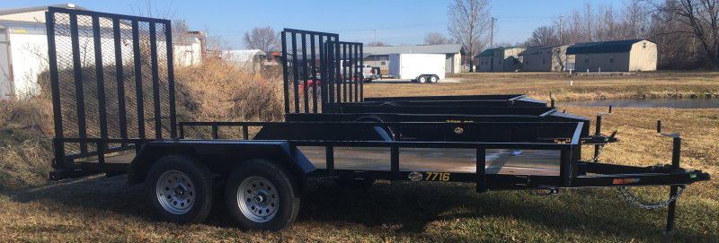 2020 Doolittle Trailer Mfg 77 X 16 Rally Sport Angle-Iron Top Rail Utility Trailer