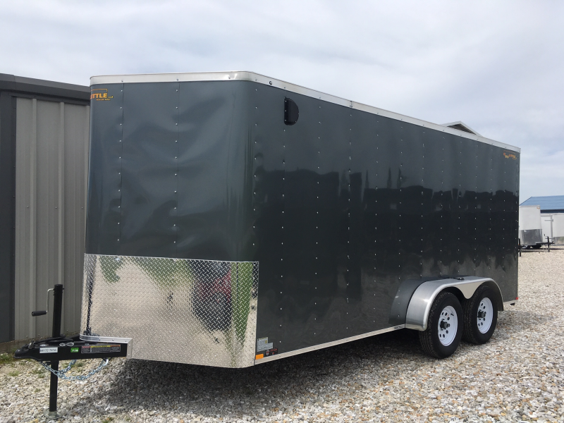 New 2020 Doolittle 7 x 16 Rear Ramp Door Enclosed Cargo Trailer