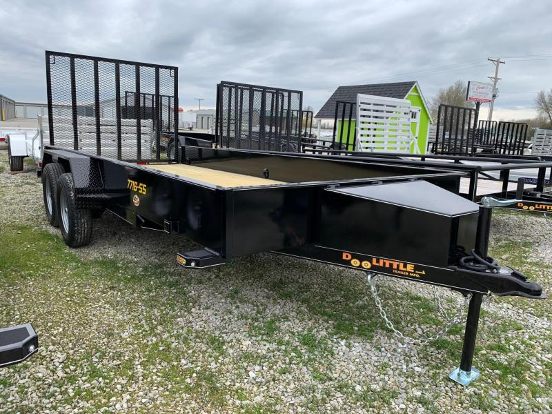 "2020 Doolittle Trailer Mfg 77"" X 16' SS Utility Trailer"