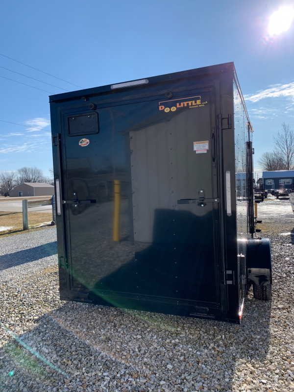 2020 Doolittle  6X12 CARGO Enclosed Cargo Trailer REAR RAMP DOOR *BLACK OUT PACKAGE*