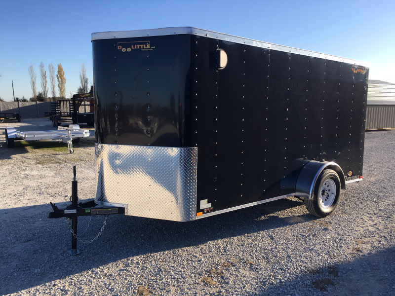 2020 Doolittle Trailer Mfg 6 x 12 Enclosed Cargo Trailer Rear Ramp Door