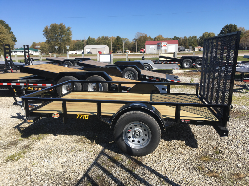 2020 Doolittle Trailer Mfg 77 x 10 Rally Sport Angle Iron Top Rail Utility Trailer