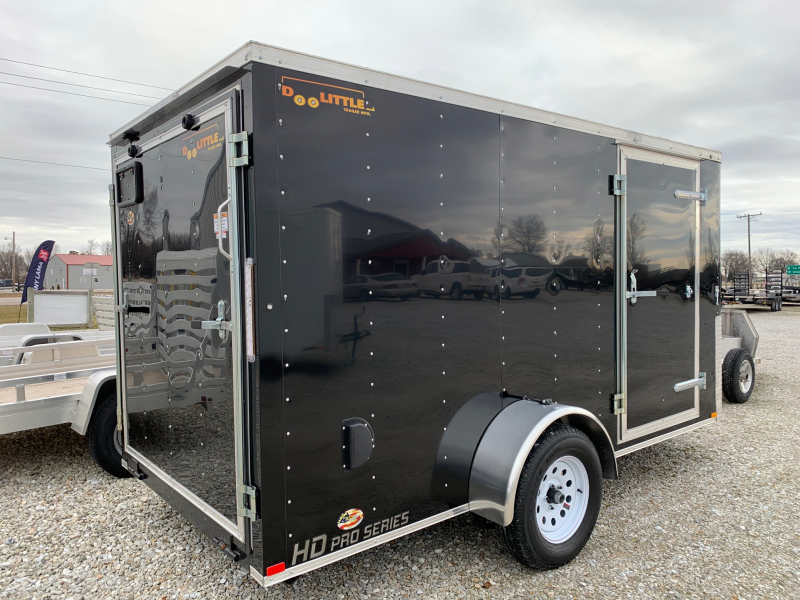 2020 Doolittle Trailer Mfg 6 x 12 Rear Ramp Door Enclosed Cargo Trailer