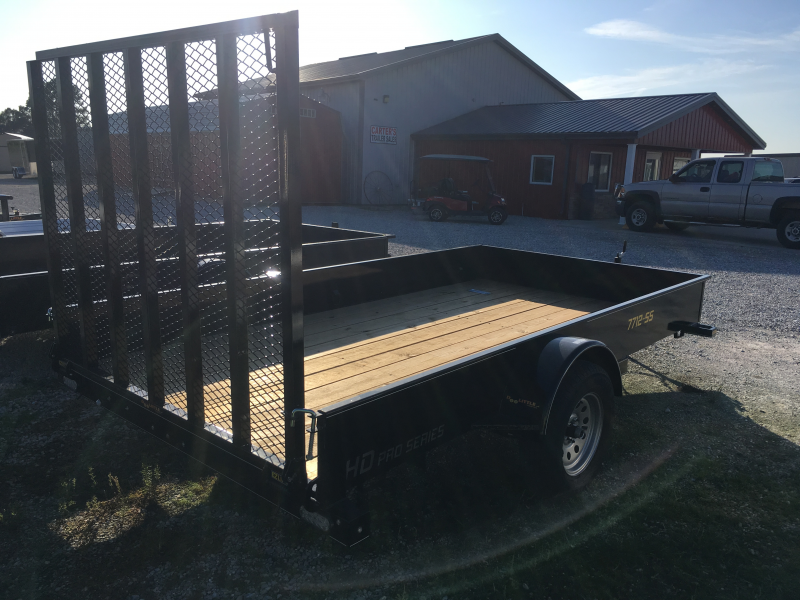 "2020 Doolittle Trailer Mfg 77"" X 12' SS Utility Trailer"