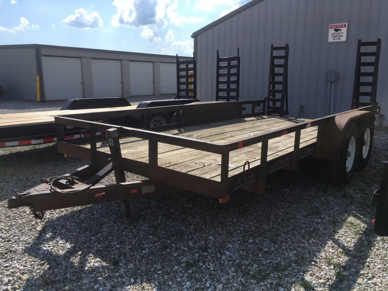 USED 1999 SIMT 82 X 16 Utility Trailer 10K GVWR + FLIP UP RAMPS