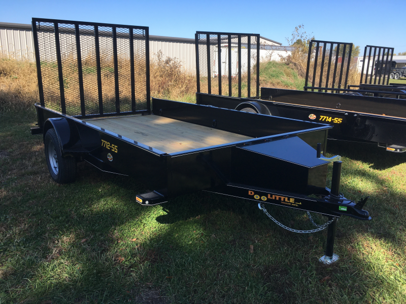 "New 2020 Doolittle 77"" x 12' Solid Metal Sides SA SS Series Utility Trailer"