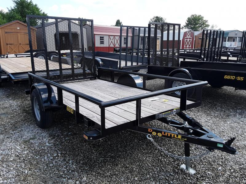 2019 DooLittle 66 x 10 PIPE RAIL Utility Trailer