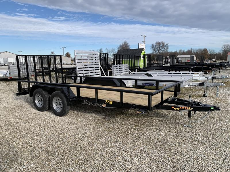 2020 Doolittle Trailer Mfg 77 x 16 Pipe Rail T/A Utility Trailer