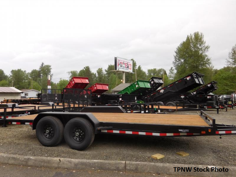 2019 Iron Eagle 7x18 14K Series Flatbed Trailer