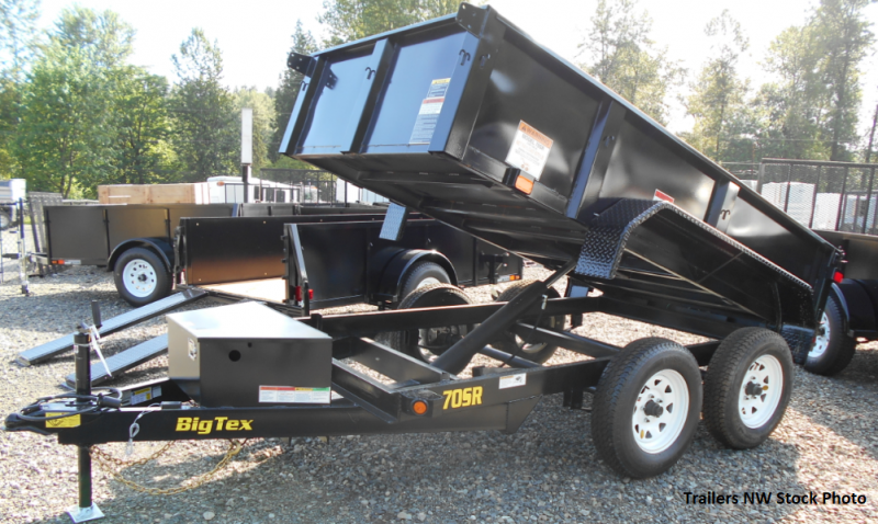 Big Tex 70SR 5x10 7K Dump Trailer - Double Rear Doors