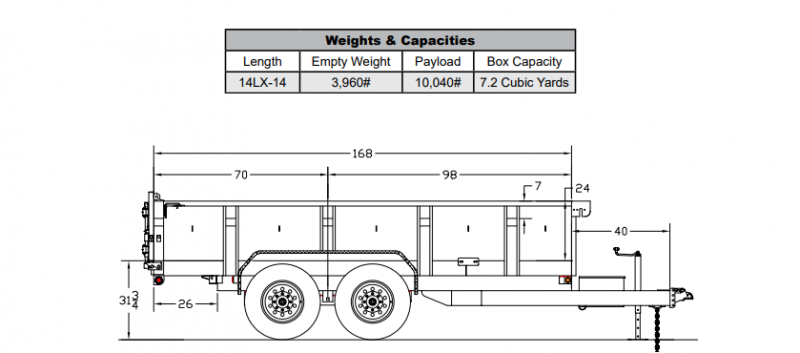 big tex dump trailer wiring diagram big tex 83x14 14k dump trailer trailers nw horse trailers  big tex 83x14 14k dump trailer
