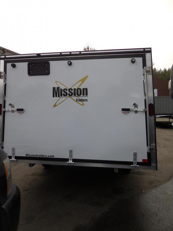 """2020 Mission 101""""x12' Crossover Enclosed Cargo Trailer"""