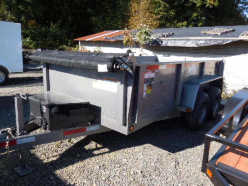 2020 ABU 6x12 Scissor Lift 10K Dump Trailer BLACK
