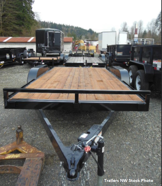 2020 Iron Eagle 7x16 10K Flatbed Trailer with Ramps