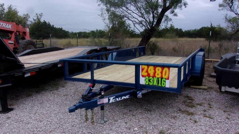 "2020 Texline 83"" x 14 Tandem Axle Utility Trailer"