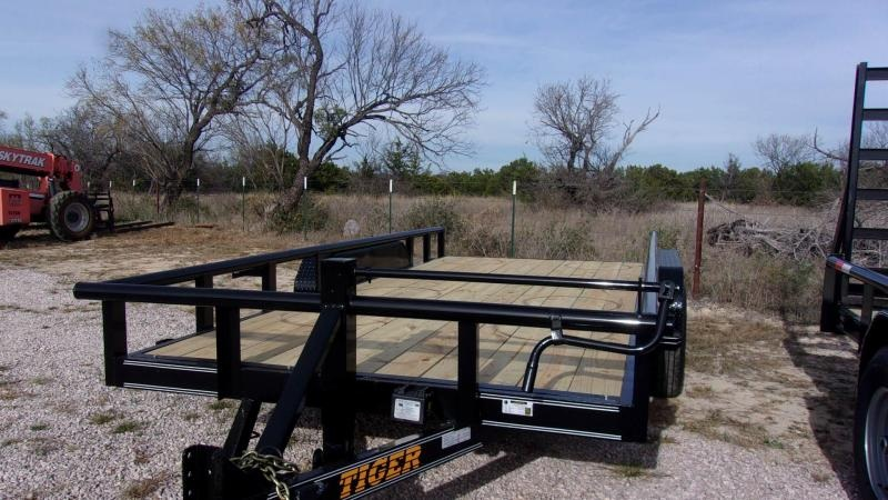 "2020 TIGER - 83"" X 16' - EQUIPMENT TRAILER- 14 K GVWR - STAND UP RAMPS"
