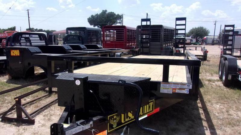 "2019 US Built  82"" x 22'  - 16K GVWR - 14 Ply Tires - 8K Axles - Equipment  Trailer"