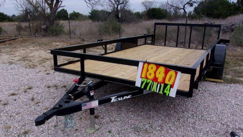 "2020 Texline 77"" x 14 Single Axle Utility Trailer"