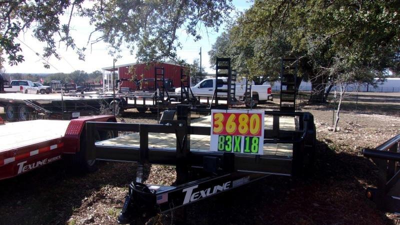 "2020 TexLine 83"" X 18' 14K BOBCAT Equipment Trailer"