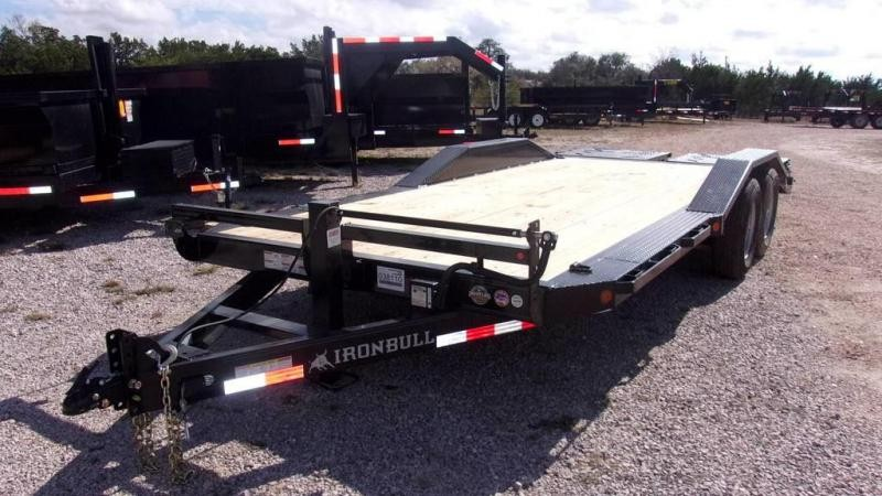 "2020 Iron Bull 102"" x 20' 14K Drive-Over Fenders Equipment Trailer w/ 3' Rampage Ramps"