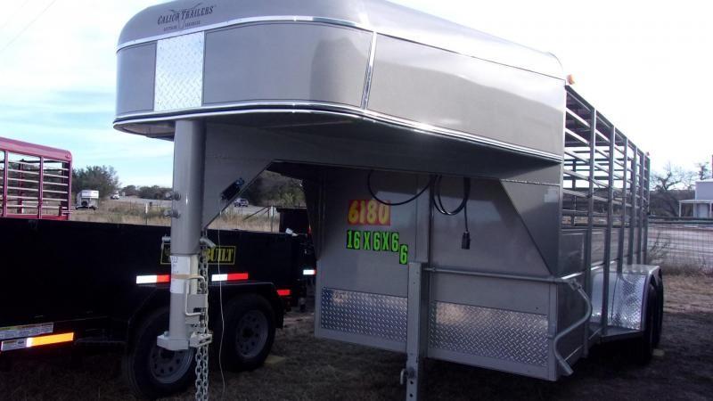 """2020 Calico Trailers 16'X6'X6'6"""" Livestock Trailer"""